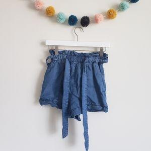 H&M Paper Bag Denim Shorts
